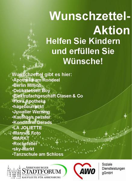 Weihnachtswünsche Für Kinder.Awo Kreisverband Stormarn E V Große Wunschzettel Aktion In